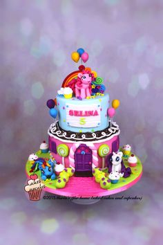 My Little Pony Cake For A Girl Who Turned 5 Unicorn
