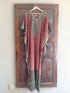 Sheer caftan chiffon tunic maxi dress by ArabianThreads on Etsy