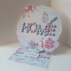 Card designed by Joanne Street using Afternoon Tea papers and Create with Candi kit.