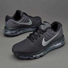 Nike Air Max 2017 Black Anthracite White Sports Running Shoes