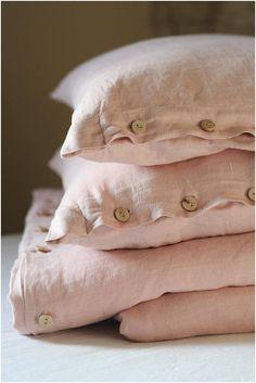 Linen duvet cover blush pink linen beding softened linen