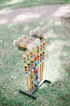 Croquet - a classic backyard game !  Loved playing this as a kid !