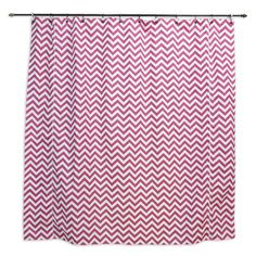 Zig Zag Cotton Candy Standard Cut Corded Shower Curtain