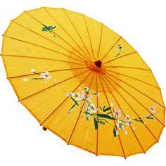Sombrinha Japonesa Amarela