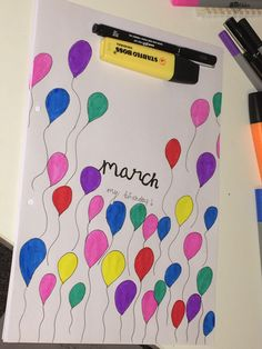 March Bullet Journal Title Page