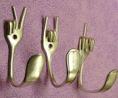 Upcycle Cutlery Hooks Gabel-Wandhaken