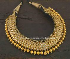 South Indian Traditional Gold Choker Necklace Temple Jewellery, India Jewelry, Thread Jewellery, Jewelry Patterns, Royal Jewelry, Diamond Jewelry, Gold Jewelry, Diamond Necklaces, Pearl Diamond