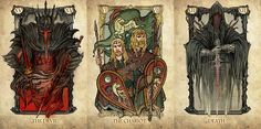 The amazingly talented Russian artistSceithAilmdesigned a set of gorgeously detailed Lord of the Rings Tarot Cards that made us want to actually use them