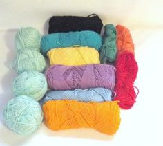 Mixed LOT Mercerized Cotton Yarn Reynolds Saucy Yarn Bright Colors LOT 13 #crochet #knitting