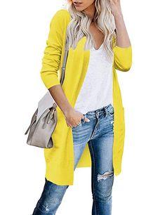 WEUIE Womens Tops Clearance Womens Plush Autumn Winter Long Sleeve Pure Color Fashion Coat Pocket Long Coat