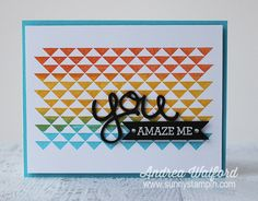 Gradient Stamping & Layered Diecut by Andrea Walford