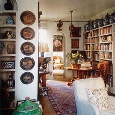 Small library designed by Robert Kime.