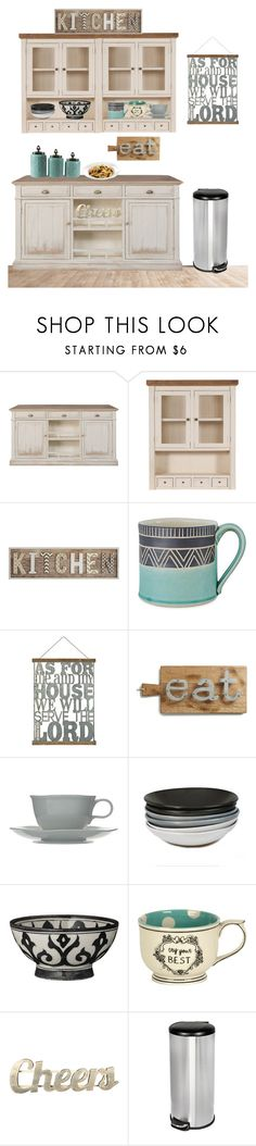 """Kitchen"" by chelseayo-1 ❤ liked on Polyvore featuring interior, interiors, interior design, home, home decor, interior decorating, Pier 1 Imports, Jessica Wertz Ceramics, Europe2You and Bluebellgray"