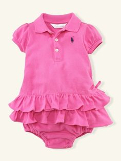 If I ever have a baby girl she will wear this RL Polo Dress.