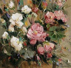 "Daily Paintworks - ""begonias"" - Original Fine Art for Sale - © Mostafa Keyhani"