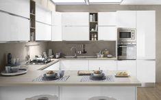 Cucina componibile, bianco, bianco lucido | : Veronica DFCF