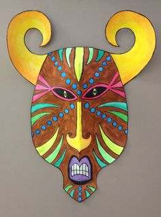 🎨Created by Meredith Lee Terry! Cultural Crafts, 6th Grade Art, Africa Art, Masks Art, Middle School Art, African Masks, Camping Crafts, Art Classroom, Art Club
