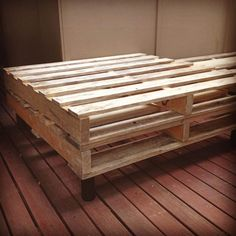 Wooden Pallet Cart Style Coffee Table