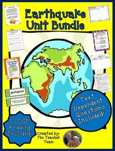 Earthquake Unit ~ Close Reading ~ Text Dependent Questions : We have developed this Common Core aligned complete Earthquake Unit with CLOSE Reading passages, research report, text dependent questions, and essential questions that contains everything needed to teach a rigorous unit on earthquakes.