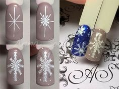 Here is a tutorial for an interesting Christmas nail art Silver glitter on a white background – a very elegant idea to welcome Christmas with style Decoration in a light garland for your Christmas nails Materials and tools needed: base… Continue Reading → Holiday Nail Art, Winter Nail Art, Winter Nail Designs, Christmas Nail Designs, Christmas Nail Art, Winter Nails, New Nail Art Design, Nail Art Designs, Nail Art Noel
