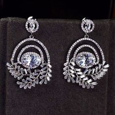 Zircon Earring JHZ-393 USD48.97, Click photo for shopping guide and discount