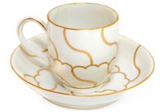 Gilded English Cup & Saucer