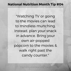 National Nutrition Month Tip #4