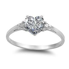 .925 Sterling Silver .85ct Simulated Diamond-this is sooo beautiful! I want this as my promise ring!