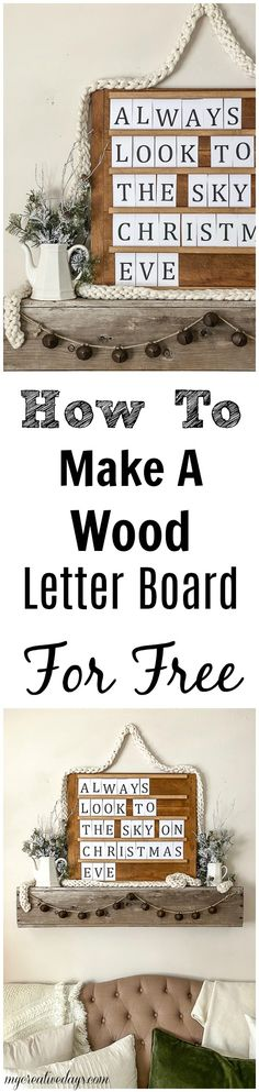 Letter boards are a lot of fun and this tutorial will show you how to make a wood letter board for free with scrap wood.