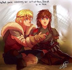 Hiccup and Astrid genderbend - this is amazing!