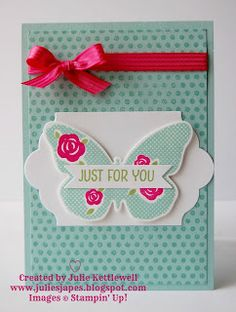 Stampin' Up! UK Order Online 24/7 - Julie Kettlewell: Floral Wings again