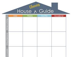 31 Day House Cleaning Routine or Schedule Printable and