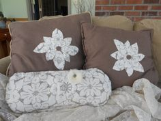 Set of throw Pillows by BarbarasNook on Etsy