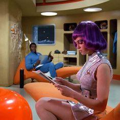 fashion in spaaaaaaaceeee — teleportcity: Gabrielle Drake as Lt. Gay Ellis,.