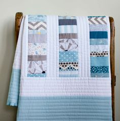 Handmade Baby Boy or Baby Girl Shower Gift Baby Girl Quilts, Girls Quilts, Crib Quilts, Charm Quilt, Toddler Quilt, Quilting Projects, Quilting Ideas, Quilt Patterns, Custom Quilts