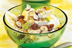Das Rezept für Dinkelmüsli mit Zimt-Kefir mit allen nötigen Zutaten und der einfachsten Zubereitung - gesund kochen mit FIT FOR FUN