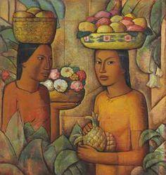 alfredo ramos martinez (1871-1946) Mujeres con frutas