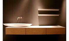shallow countertop vanity basin and drawer storage - Marike Solo Collection / Design: marike andeweg and Boudewijn Roest. www.marike.com