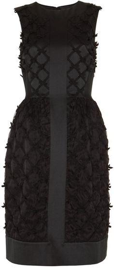 TEMPERLEY LONDON Lattice Ribbon Dress