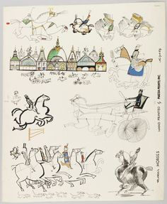 "Sidewall, ""Horses"", 1951 Saul Steinberg"