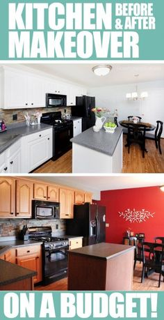 Amazing kitchen makeover on a budget!