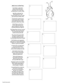 Zählen lernen mit Käfer Klaus. Eine kleine Geschichte für Kleinkinder und ein Printable als Freebie zum kostenlosen Download.