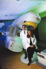 Palomar Medical Center, in partnership with San Diego Radiosurgery, was one of the first hospitals in the country to treat cancer patients with the high-definition Novalis TX™ Stereotactic Radiosurgery System. At Palomar Medical Center our radiation oncology and radiosurgery team is able to treat benign tumors, malignant tumors, vascular malformations using non-invasive external beam radiation therapy that painlessly attacks hard to reach tumors with extreme precision in just a few sessions.