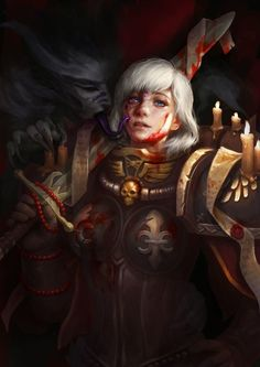 Explore the Warhammer Fantasy collection - the favourite images chosen by Cerebro-IV on DeviantArt. Warhammer 40k Memes, Warhammer Art, Warhammer 40000, Warhammer Heresy, Warhammer Fantasy, Dark Fantasy, Fantasy Art, 40k Sisters Of Battle, Ange Demon