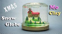 DIY Polymer clay Christmas Snow globe - Palla di neve - Bola de nieve na...