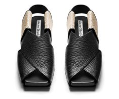 Gorgeous sandals inspired by Japanese obi folding techniques. By Acne Studios.