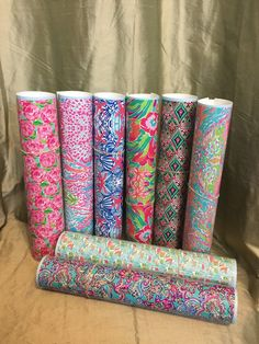 Lilly Pulitzer Inspired Vinyl Rolls 24 Pattern by SouthernIdeology