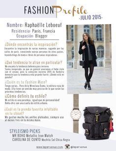 #FashionProfile de Julio: Conocé más sobre Raphaëlle Leboeuf, fashion blogger radicada en París.