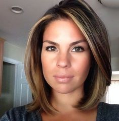 Long Face Hairstyles, Chic Hairstyles, Wedding Hairstyles, Short Brunette Hairstyles, Homecoming Hairstyles, Summer Hairstyles, Hair Color Ideas For Brunettes Balayage, Highlighted Hair For Brunettes, Highlights For Brunettes