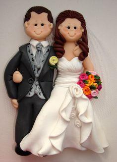 Customised flat wedding engagement keepsake cake by ALittleRelic